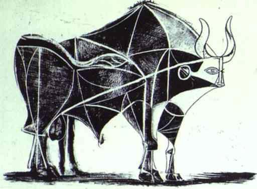 Pablo Picasso. The Bull. State V.