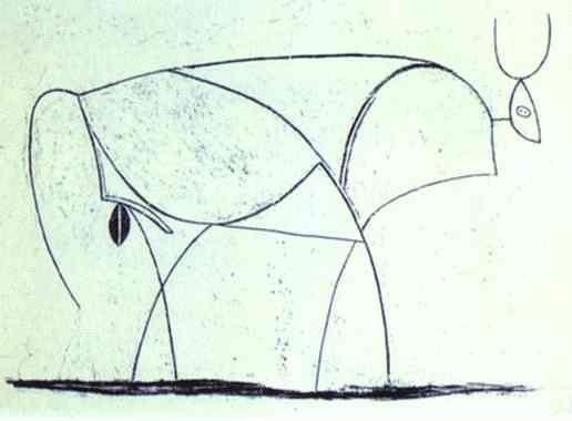Pablo Picasso. The Bull. State X.