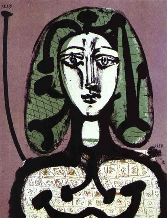 Pablo Picasso. Woman with Green Hair.