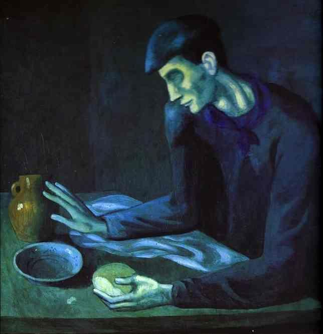 Pablo Picasso. Breakfast of a Blind Man.