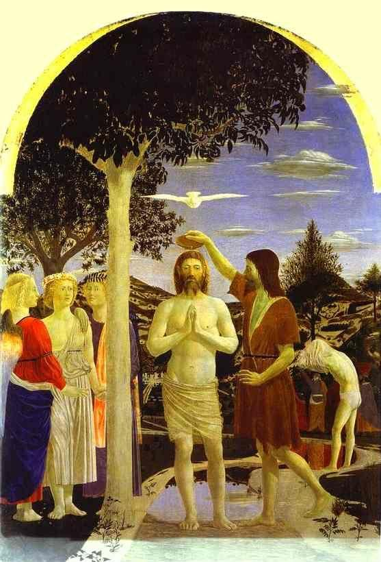 Piero della Francesca. Baptism of Christ.