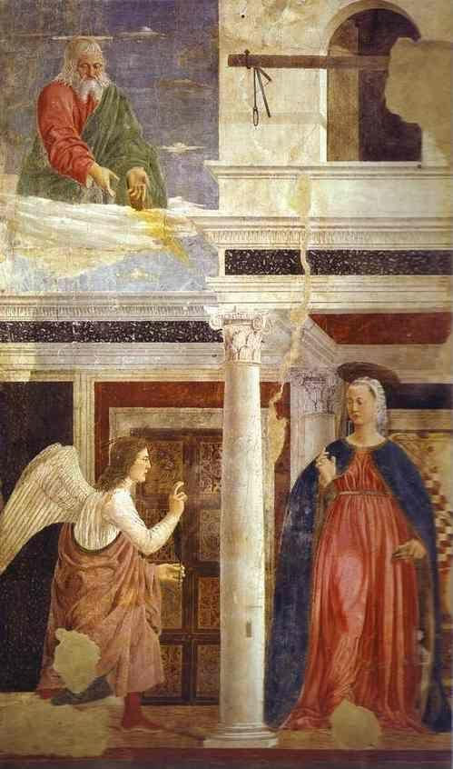 Piero della Francesca. Legend of the True Cross: Annunciation.