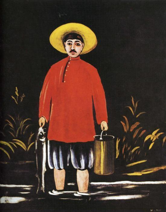 Niko Pirosmani. Fisherman in a Red Shirt.