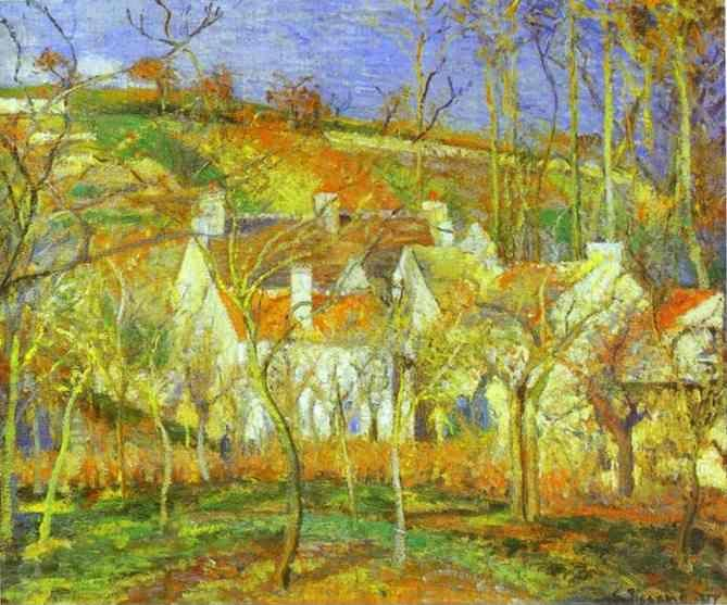 Camille Pissarro. The Red Roofs.