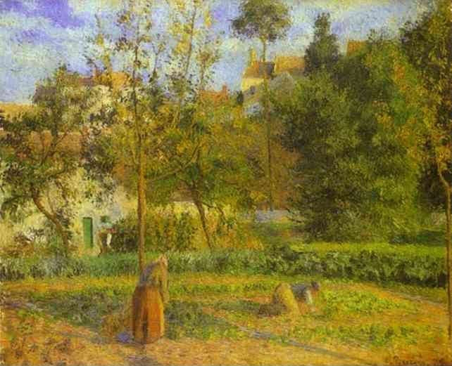 Camille Pissarro Vegetable Garden At The Hermitage Near