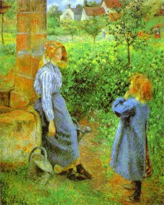 Camille Pissarro. Woman and Child at a Well.