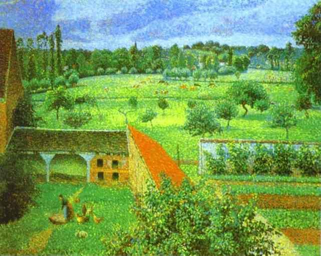 Camille Pissarro. View from the Artist's Window at Eragny.