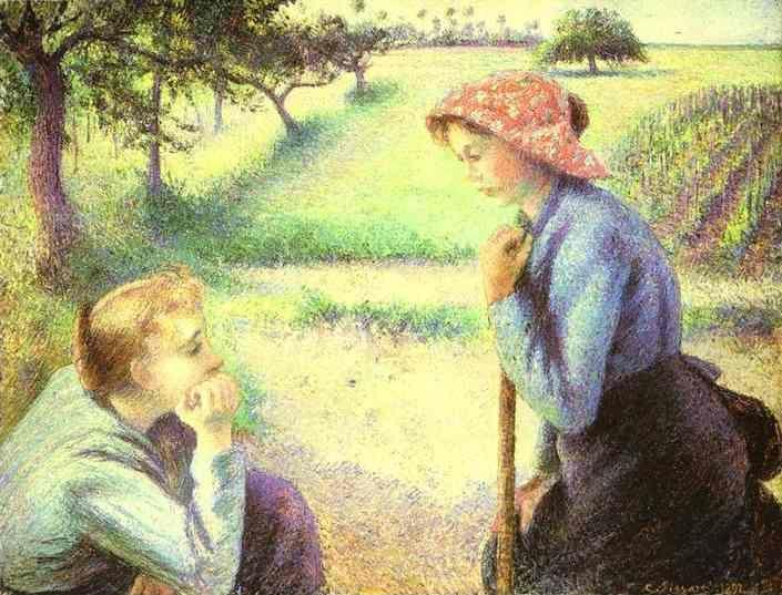 Camille Pissarro. The Chat.