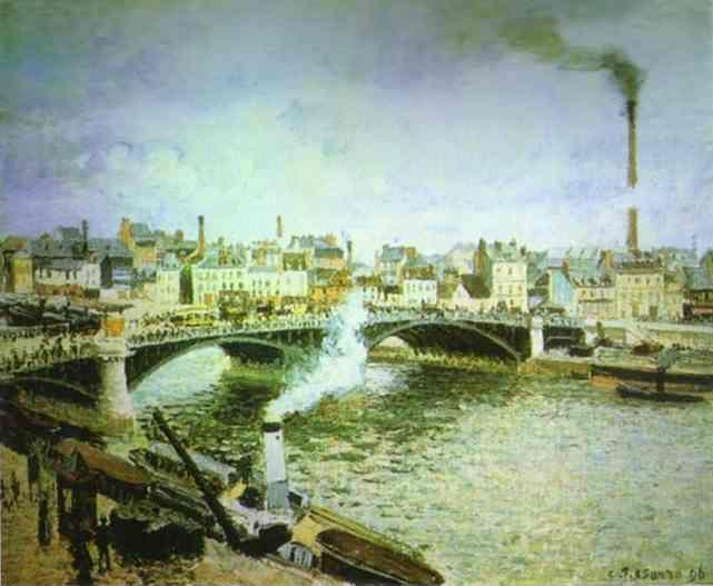 Camille Pissarro. Morning, Overcast Weather, Rouen.