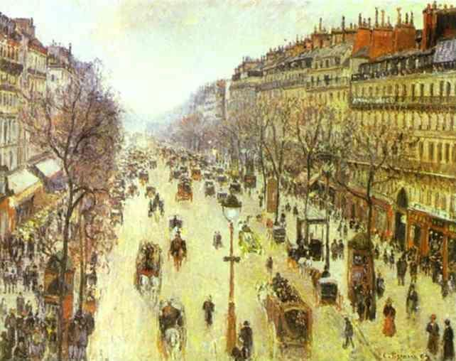 Camille Pissarro. The Boulevard Montmartre on a Cloudy Morning.