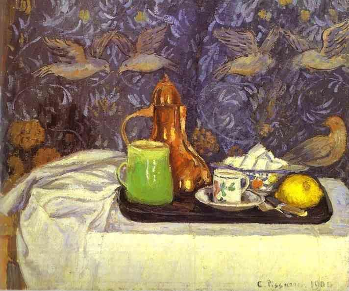 Camille Pissarro. Still-life with a Coffee Pot (Nature morte, la cafetière).