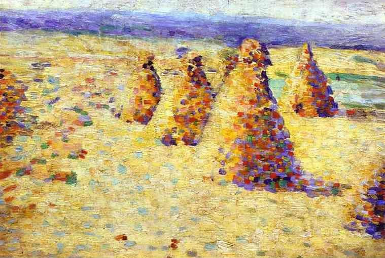 Charles Angrand. Hay Ricks in Normandy.