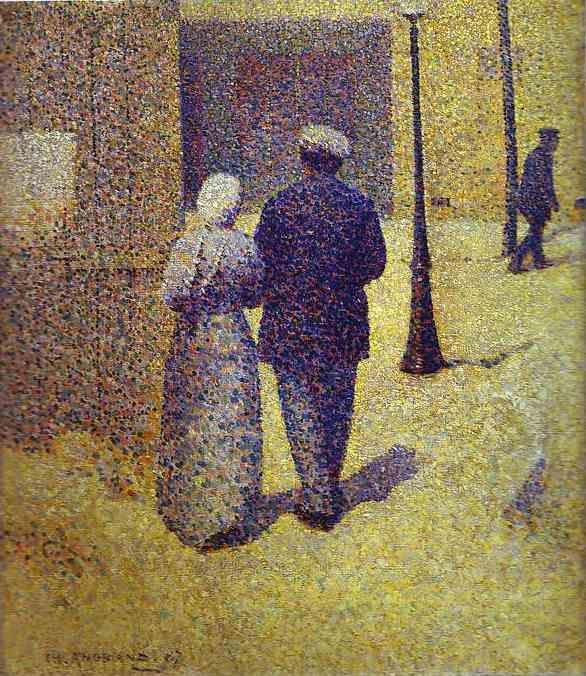 Charles Angrand. Couple in the Street.