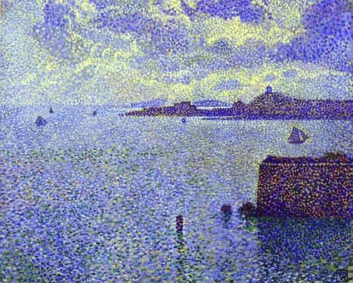 Theo Van Rysselberghe. Sailboats and Estuary.