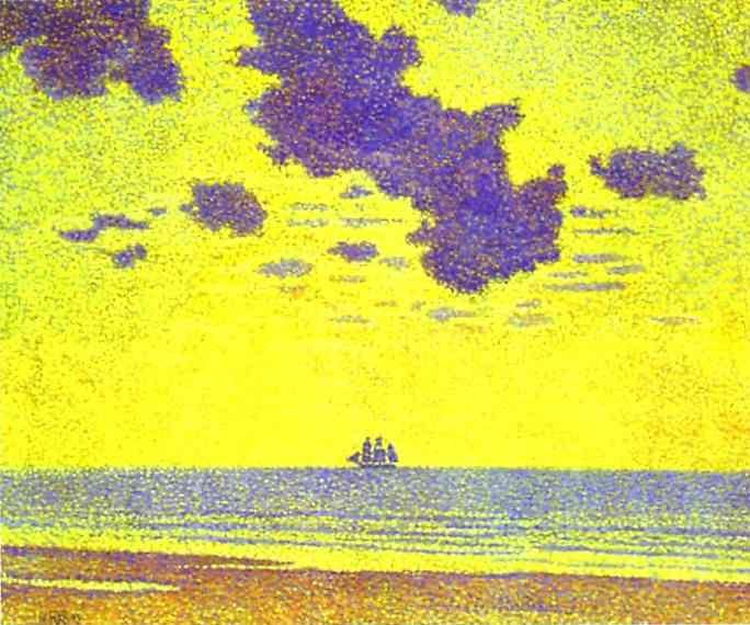 Theo Van Rysselberghe. Heavy Clouds, Christiania Fjord.