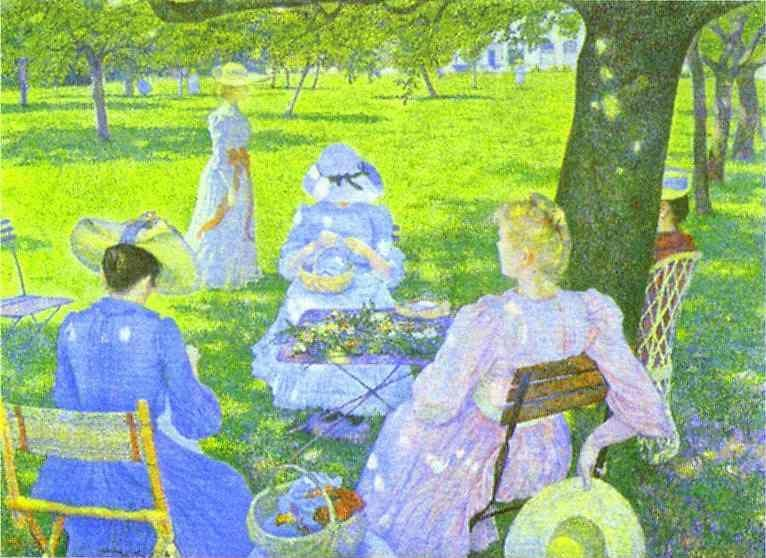 Theo Van Rysselberghe. Family in an Orchard.