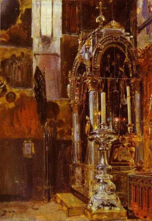Vasiliy Polenov. The Shrine of the Metropolitan Iona in the Uspensky Cathedral.
