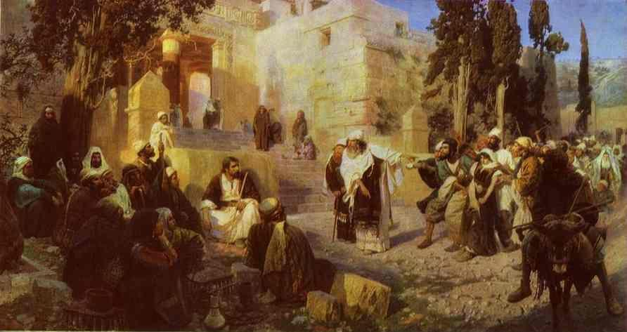 Vasiliy Polenov. Christ and Woman Taken in Adultery.