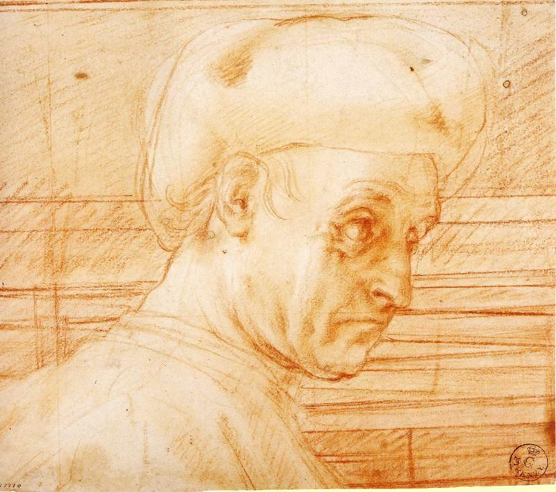 Pontormo. Study of a Man Wearing a Hat.