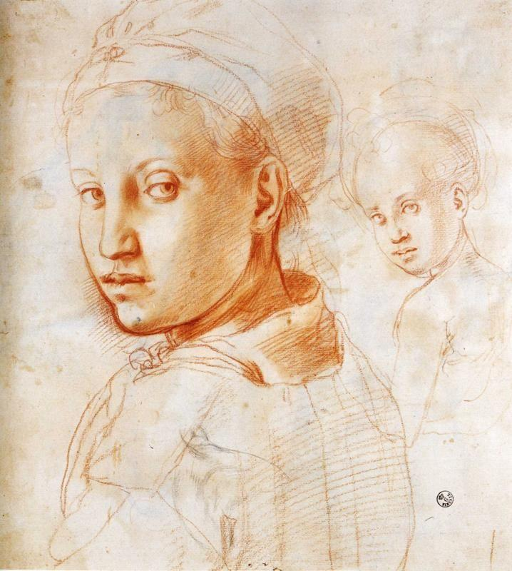 Pontormo. Study of a Youth Turning His Head.