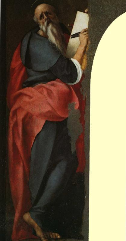 Pontormo. St. John the Evangelist and St. Michael the Archangel. Detail.