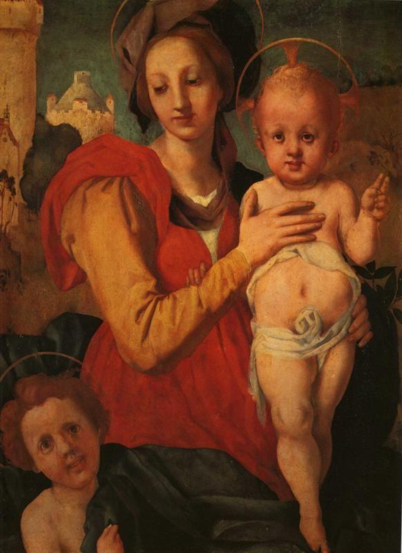 Pontormo. Madonna and Child with the Young St. John.