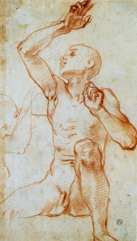 Pontormo. Male Nude. Study for the Four Patriarchs.