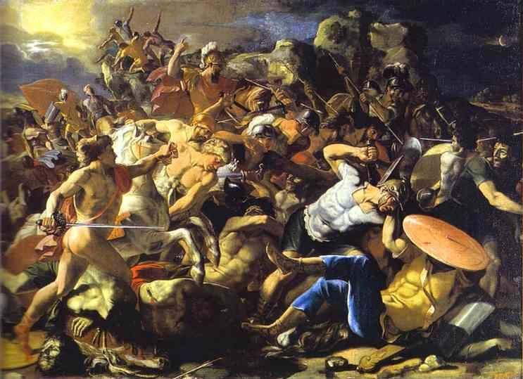 Nicolas Poussin. The Victory of Joshua over Amorites.