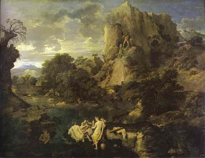 Nicolas Poussin. Landscape with Hercules and Cacus.