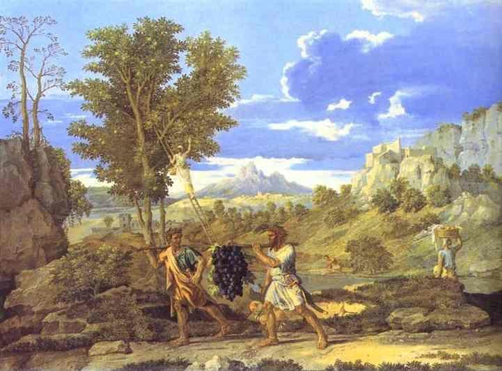 Nicolas Poussin. Autumn. The Grapes from the Promised Land.