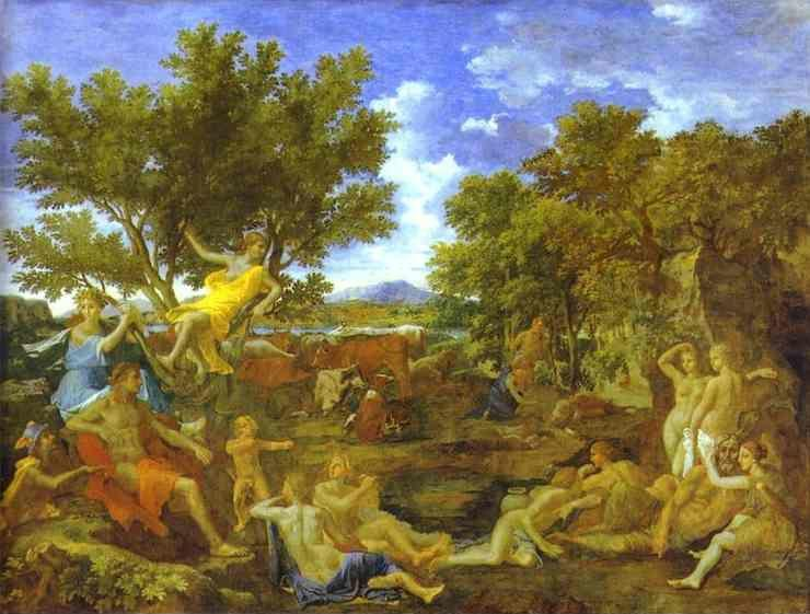 Nicolas Poussin. Apollo and Daphne.