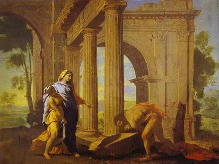 Nicolas Poussin. Theseus Finding His Father's Arms.