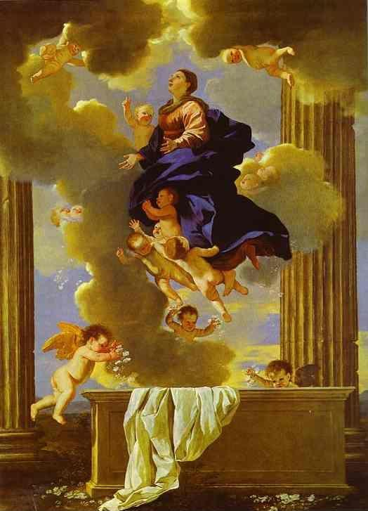 Nicolas Poussin. The Assumption of the Virgin.