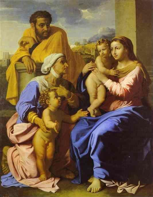 nicolas poussin holy family with john the baptist and st