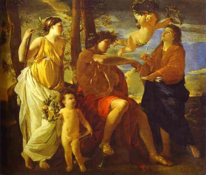 Nicolas Poussin. The Inspiration of the Poet.