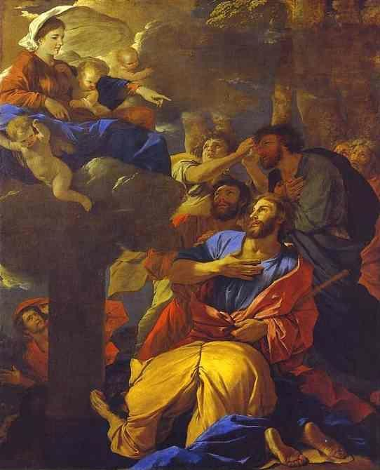 Nicolas Poussin. The Virgin of the Pillar Appearing to St. James the Greater.
