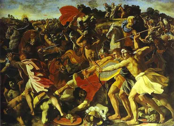 Nicolas Poussin. The Battle of Joshua with Amalekites.