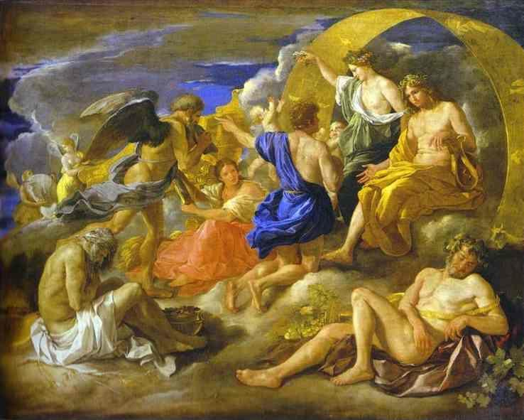 Nicolas Poussin. Helios and Phaeton with Saturn and the Four Seasons.