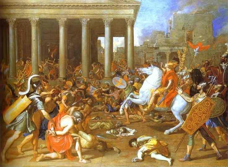 Nicolas Poussin. The Destruction of the Temple in Jerusalem.