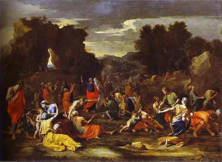 Nicolas Poussin. Gathering of Manna.