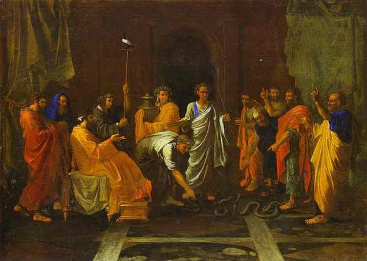 Nicolas Poussin. Moses Turning the Aaron's Staff into a Serpent.