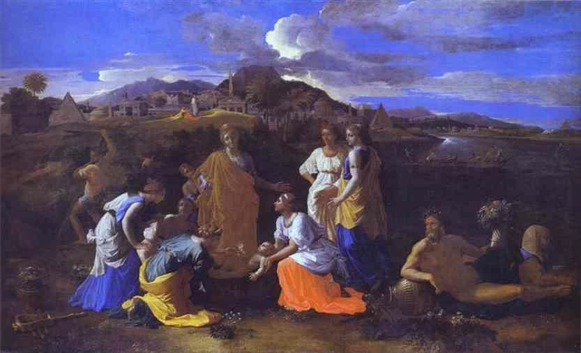 Nicolas Poussin. The Baby Moses Saved from the River.