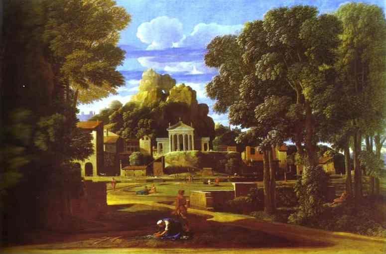 Nicolas Poussin. Landscape with the Cinders of Phocion.