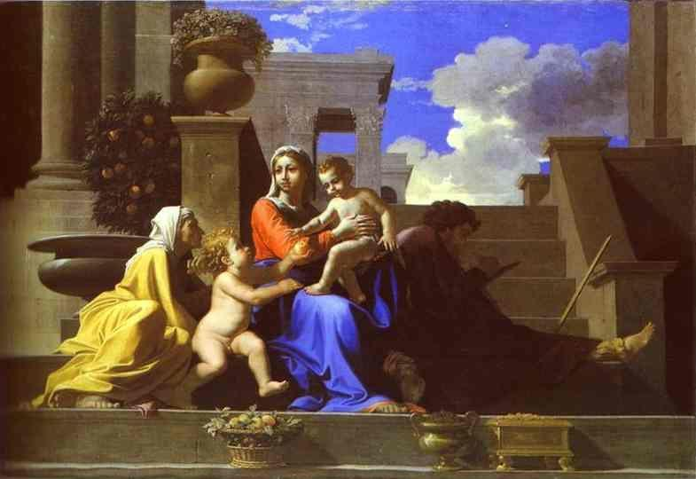 Nicolas Poussin. The Holy Family on Steps.