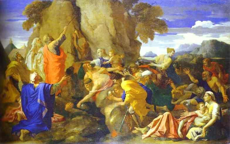 Nicolas Poussin. Moses Striking the Rock for Water.