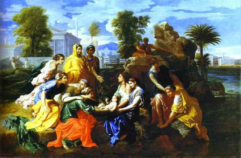 Nicolas Poussin. Baby Moses Saved from River.