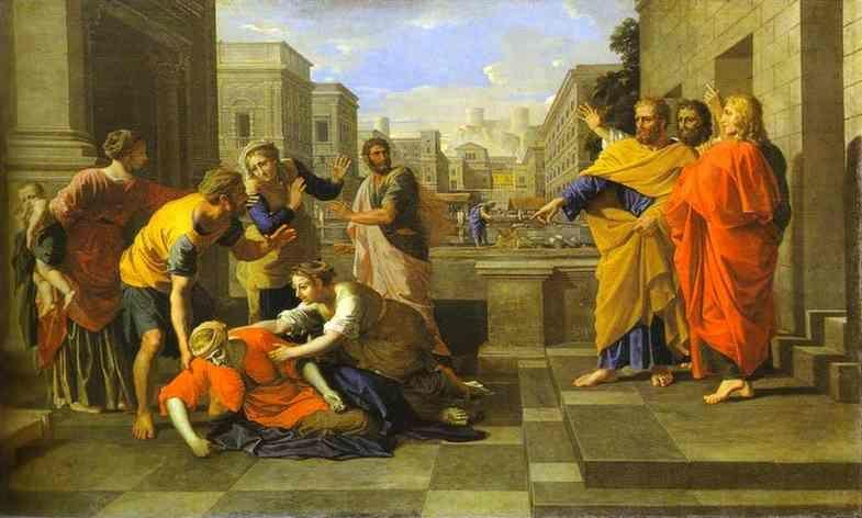 Nicolas Poussin. The Death of Sapphira.