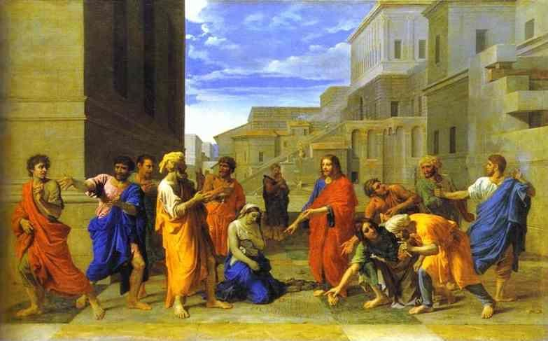 Nicolas Poussin. Christ and the Woman Taken in Adultery.