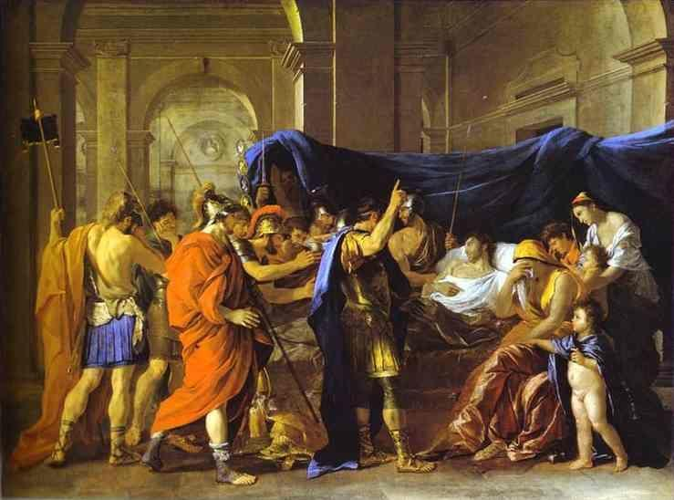 Nicolas Poussin. The Death of Germanicus.