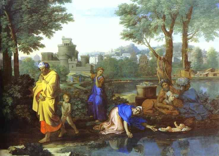 Nicolas Poussin. Baby Moses Saved from the River.